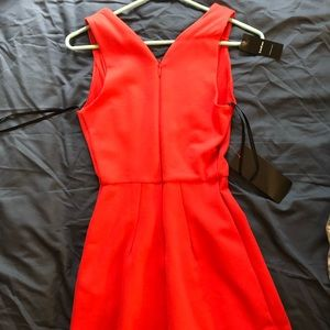 Red romper from Bebe